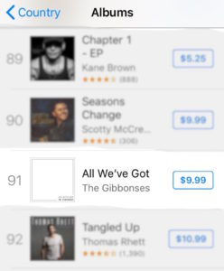 top 100 on itunes!